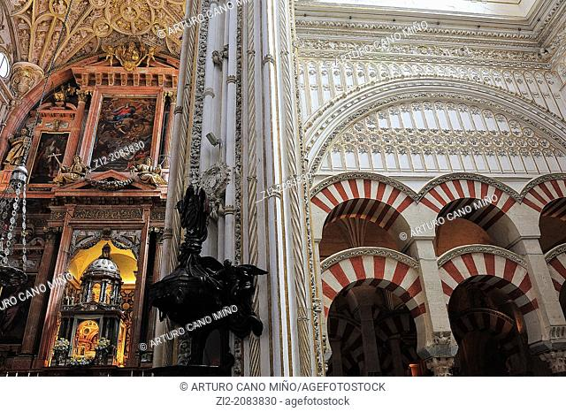 Combining Christian and muslim styles, Mezquita Catedral, Cordoba, Spain
