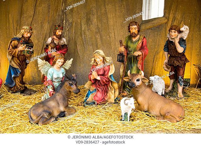 Christmas, Nativity scene, Religion. Budapest Hungary, Southeast Europe