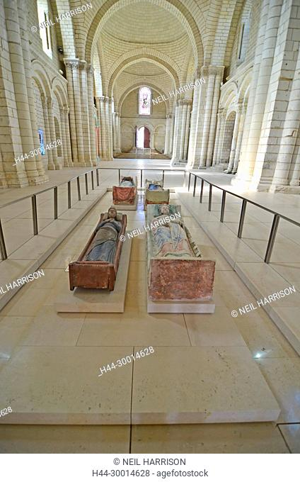 the tombs of King Henry II of England and Richard the Lionheart at Fontevraud Abbey