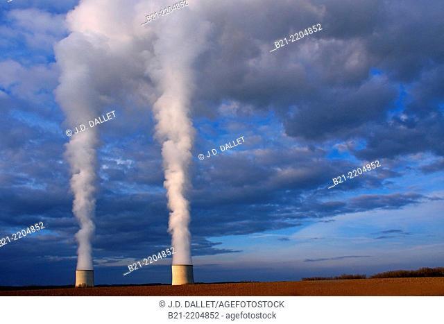 Golfech Nuclear Power Plant, Tarn-et-Garonne, Midi-Pyrenées, France