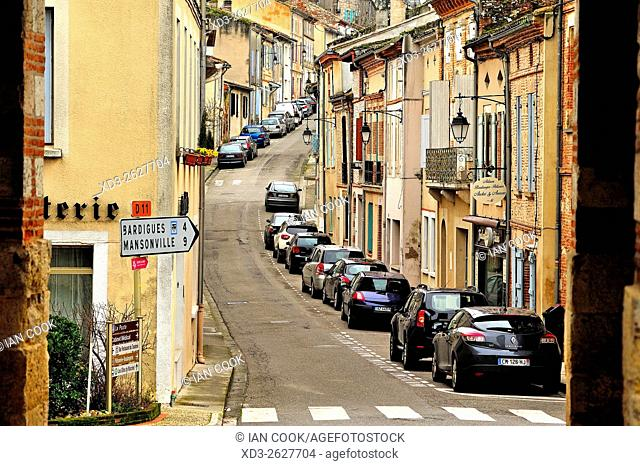Rue de la Sauvetat, Auvillar, Tarn-et-Garonne Department, Midi-Pyrenees, France