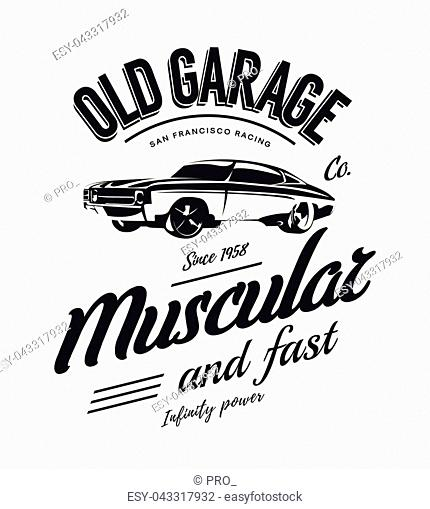 old school race poster stock photos and images age fotostock Old School Honda Civic vintage muscle car vector logo isolated on white background premium quality old sport vehicle logotype