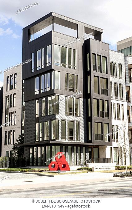 One Museum Place, multi-family condominium project designed by Mack Scogin Merrill Elam Architects, Atlanta, Georgia