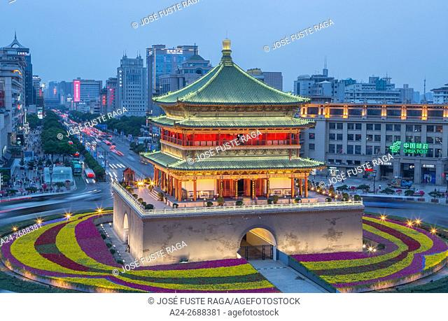 China, Shaanxi Province, Xi'an City, The Bell Tower