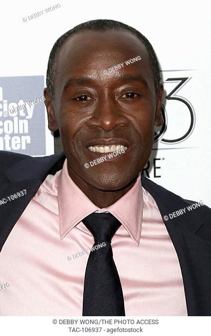 NEW YORK-OCT 10: Actor Don Cheadle attends the 53rd New York Film Festival - closing night gala presentation and premiere of 'Miles Ahead' at Alice Tully Hall...