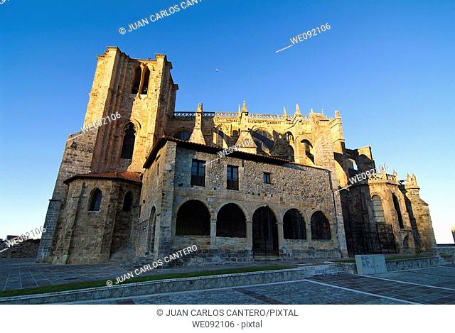 Church of St. Mary of the Assumption, the thirteenth century. Castro Urdiales. Cantabria. Spain