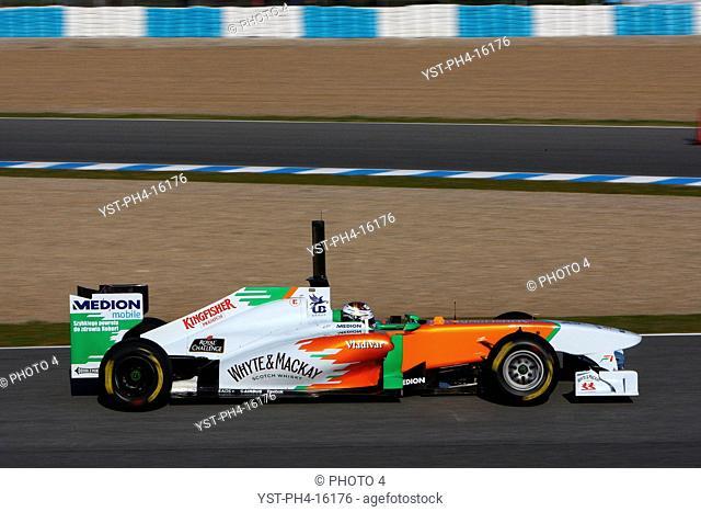 Adrian Sutil, Testing, Jerez de la Frontera, Espanha
