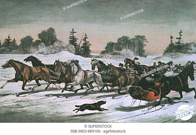 Trotting Cracks...by Currier and Ives