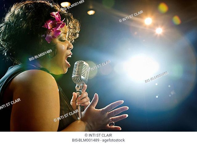 Expressive African female singer