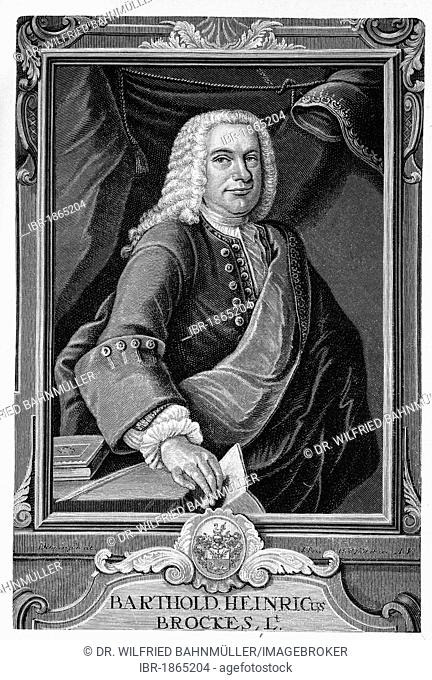 Barthold Heinrich Brockes (1680-1747) writer and poet