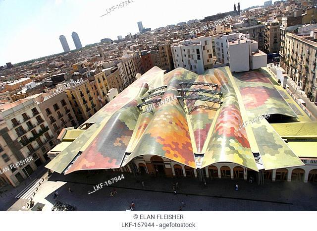 Santa Caterina Market, El Born, Barcelona, Catalonia, Spain