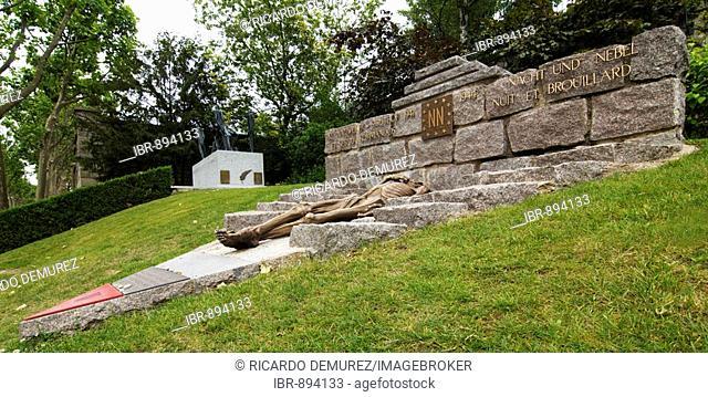 Natzweiler Struthof concentration camp memorial, Cimetiere du Pere Lachaise, Paris cemetery, France, Europe