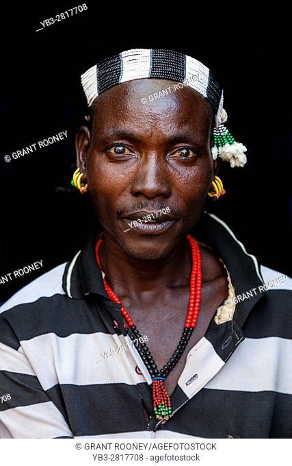 Portrait Of A Hamer Tribesman At The Turmi Monday Market, Turmi, Omo Valley, Ethiopia