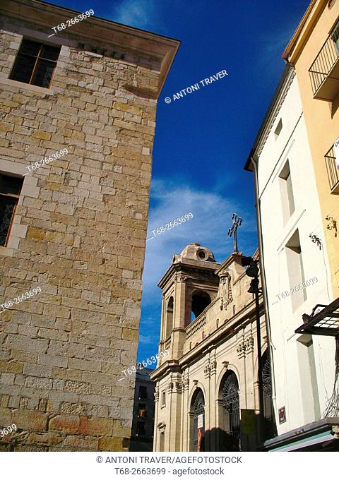 New Cathedral (Seu Nova) in the Old Town, Lleida, Catalonia, Spain