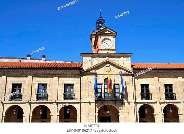 Aviles city hall in Asturias, Spain