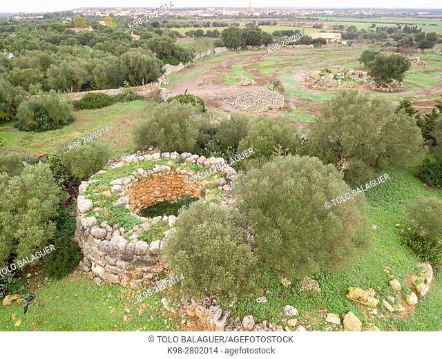 Sa Talaia Joana, Village of Talayotico, Ets Antigors, Ses Salines, Mallorca, balearic islands, spain, europe