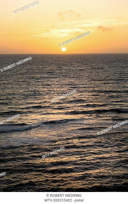 Scenic view of sunset over sea, Western Province, Sri Lanka