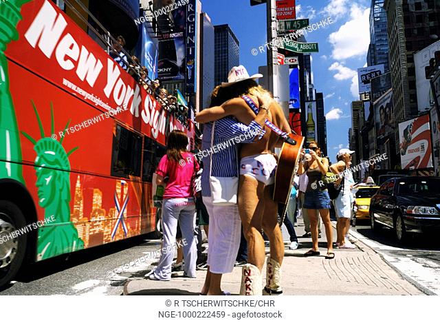 The Naked Cowboy, Times Square, New York City, USA