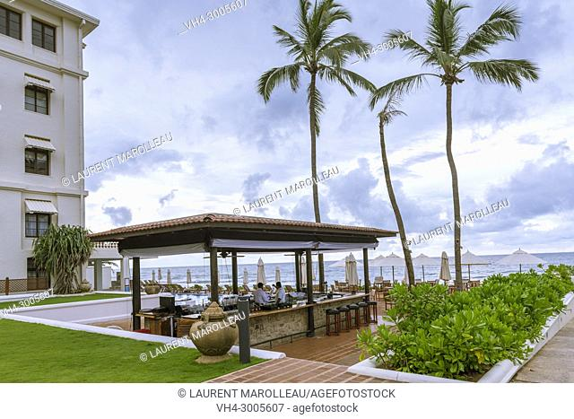 The Outside Terrace at Galle Face Hotel, Colombo, Western Province, Sri Lanka, Asia