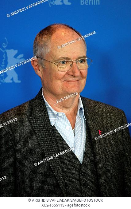 14 February 2012 Berlin Germany  Actor JIM BROADBENT poses for photographers at the photocall for the film 'The Iron Lady' during the 62nd Berlin International...