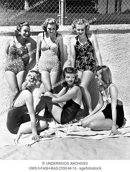Malibu, California: 1938.These six lucky actresses have been told they must get suntans for their upcoming roles in Give Me a Sailor