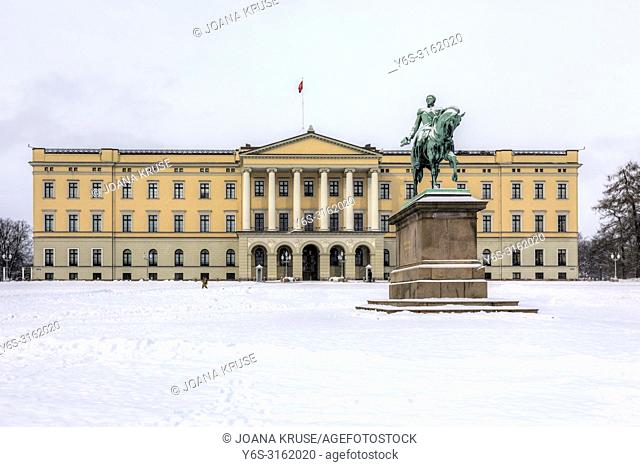 Oslo, Royal Palace, Norway, Scandinavia, Europe