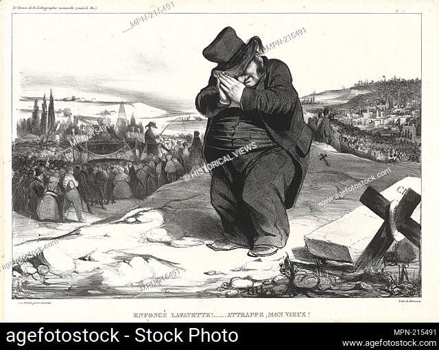 Crushed Lafayette!. Trapped, Old Fellow!, plate 22 - 1834 - Honoré Victorin Daumier French, 1808-1879 - Artist: Honoré-Victorin Daumier, Origin: France