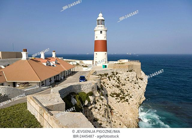 The Europa Point Lighthouse, Trinity Lighthouse at Europa Point, Victoria Tower, Gibraltar, Europe
