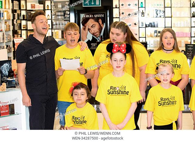 The Fragrance Shop Spray A Little Happiness Foundation to celebrate £1million raised for UK children's charities with a special performance by the Rays of...