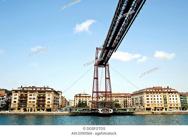 Puente De Vizcaya, First Shuttle Bridge, Between Portugalete And Getxo, Basque Country, Spain