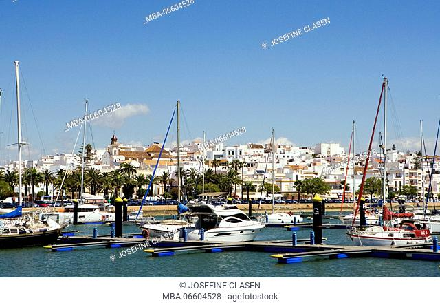 Ayamonte, frontier town with Portugal, travel, Border is the river Rio Guadiana (river), approx. 21, 000 inhabitants, yacht harbour
