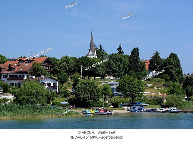 Gstadt, july, Lake Chiemsee, Bavaria, Germany