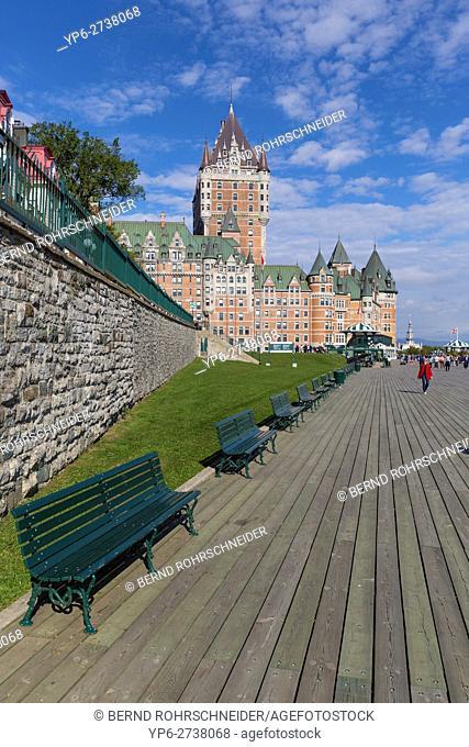 promenade at Château Frontenac, Quebec, Canada