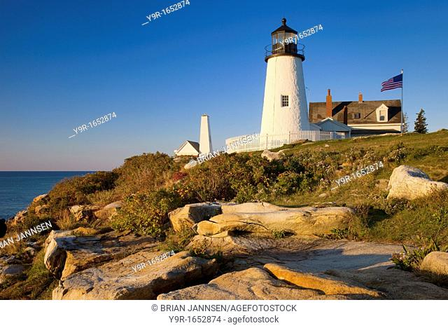 Early morning at Pemaquid Point Lighthouse - built 1827, near Bristol Maine USA