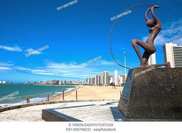 beach of Fortaleza in ceara state brazil