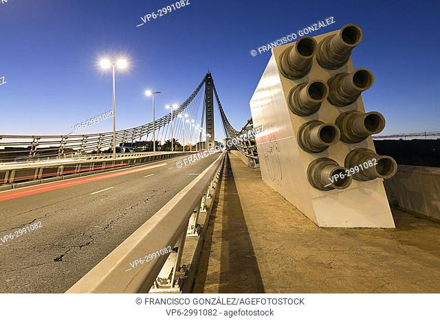 Bridge of the Bimilenari in the city of Elche. Province of Alicante, Spain