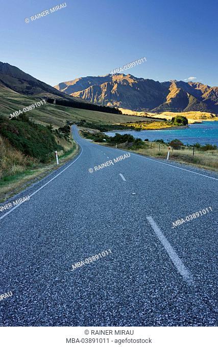 Makarora - Lake Hawea - Road, Lake Hawea, Otago, south Island, New Zealand