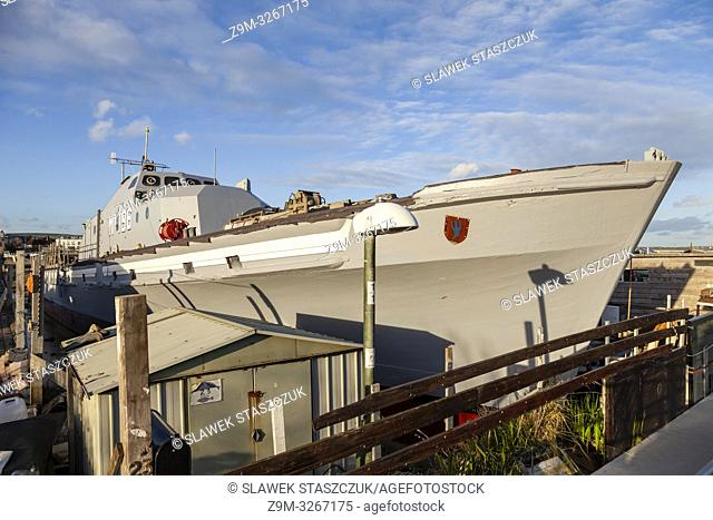Houseboat in Shoreham-by-Sea, West Sussex, England