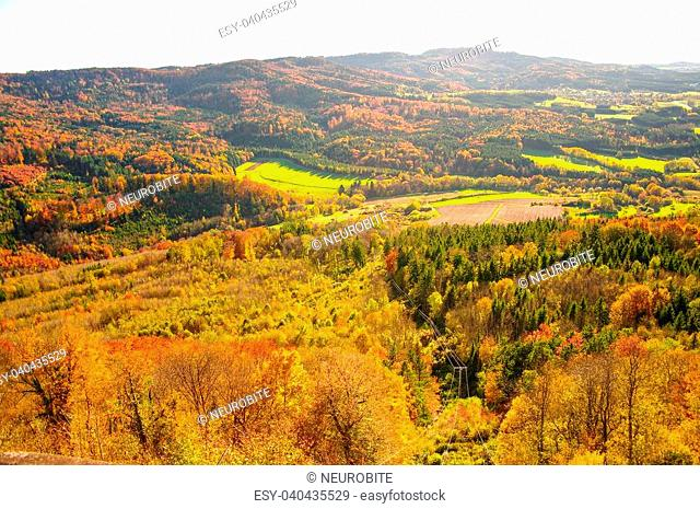 Autumn in Hohenzollern Castle and around, Germany, 2013