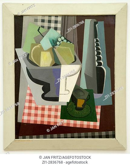'still life with white grapes', gino severin, 1916
