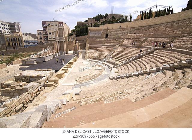 The Roman Theatre in Cartagena, Spain on June 4, 2017