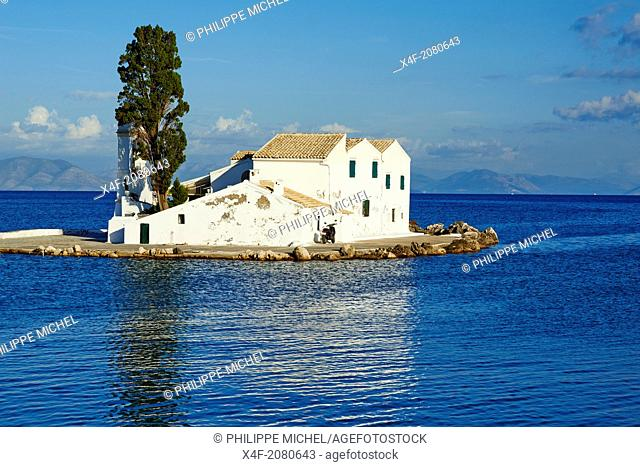 Greece, Ionian island, Corfu island, Kanoni, Vlacherna Monsatery