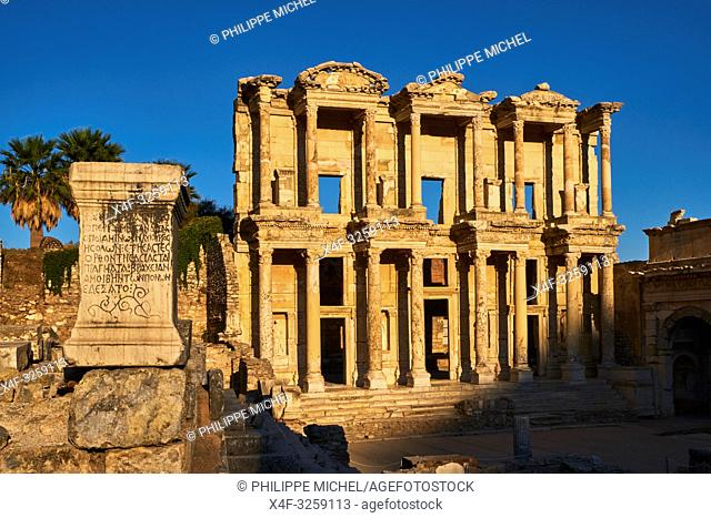 Turkey, Izmir province, Selcuk city, archaeological site of Ephesus, Celsus library