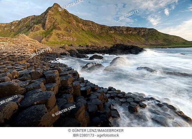 Basalt columns at the Giant's Causeway, Causeway Coast, County Antrim, Northern Ireland, United Kingdom, Europe