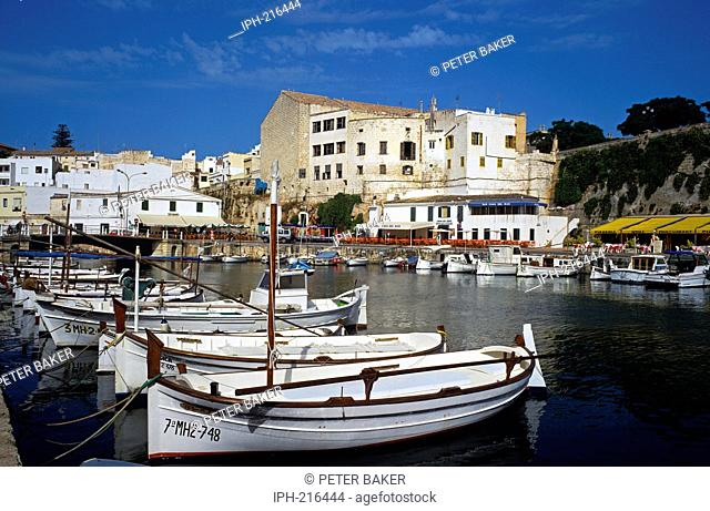 The Old Port of Ciudadela, the ancient capital of Menorca