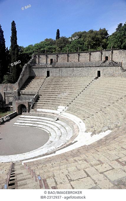 The small theatre, Odeon, Pompeii, Campania, Italy, Europe