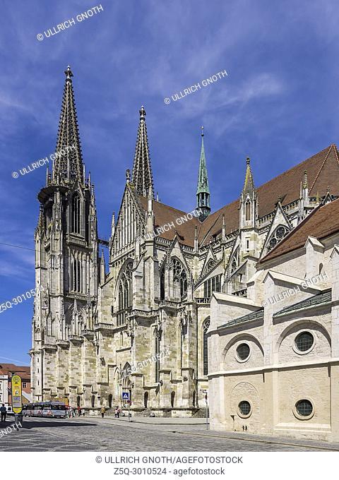 Cathedral St. Peter in Regensburg, Bavaria, Germany