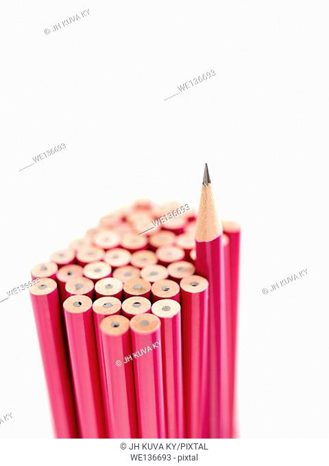 Pencils, one different inside the group