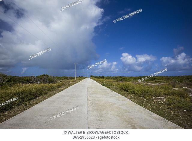 British Virgin Islands, Anegada, paved island road
