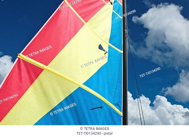 Colorful boat sail